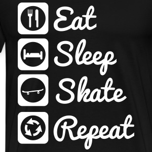 Eat,sleep,skate,skateboard,skater,skate board - T-shirt Premium Homme