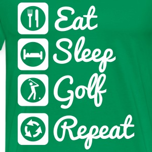Eat,sleep,golf,repeat , tee shirt golfeur - T-shirt Premium Homme