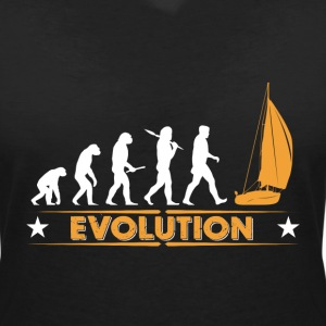 Sail evolution - orange/white T-Shirts - Women's V-Neck T-Shirt