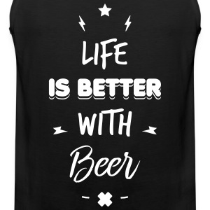 life is better with beer Sportkleding - Mannen Premium tank top