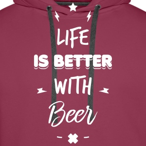 life is better with beer Sweaters - Mannen Premium hoodie