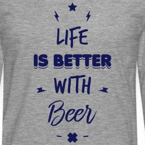 life is better with beer Shirts met lange mouwen - Mannen Premium shirt met lange mouwen