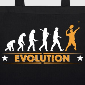 Tennis Evolution - orange/weiss Bags & Backpacks - EarthPositive Tote Bag