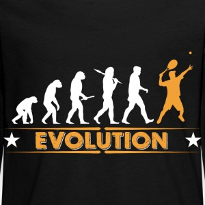 Tennis Evolution - orange/weiss Langarmshirts - Teenager Premium Langarmshirt