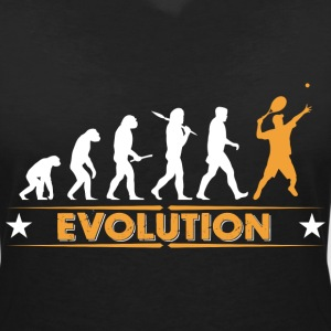 Tennis Evolution - orange/weiss T-Shirts - Women's V-Neck T-Shirt