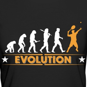 Tennis Evolution - orange/weiss T-Shirts - Frauen Bio-T-Shirt