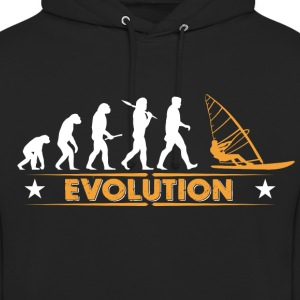 Windsurfing evolution - orange/hvid Sweatshirts - Hættetrøje unisex