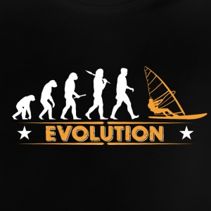Windsurfing evolution - orange/hvid Baby T-shirts - Baby T-shirt