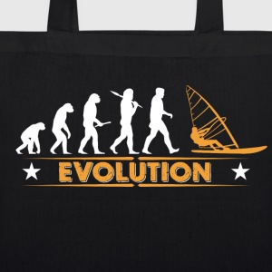 Windsurfing evolution - orange/white Bags & Backpacks - EarthPositive Tote Bag