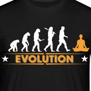 Yoga Meditieren Evolution - orange/weiss T-Shirts - Männer T-Shirt