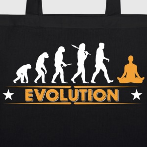 Yoga meditation evolution - orange/white Bags & Backpacks - EarthPositive Tote Bag