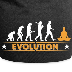 Yoga meditation evolution - orange/white Caps & Hats - Jersey Beanie