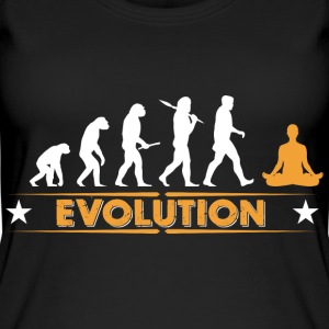 Yoga meditation evolution - orange/white Tops - Women's Organic Tank Top