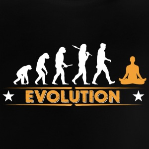 Yoga Meditieren Evolution - orange/weiss Baby T-Shirts - Baby T-Shirt
