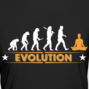 Yoga meditation evolution - orange/white T-Shirts - Women's Organic T-shirt
