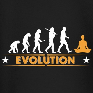 Yoga Meditieren Evolution - orange/weiss Baby Langarmshirts - Baby Langarmshirt