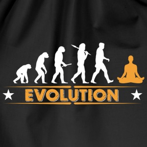 Yoga meditation evolution - orange/white Bags & Backpacks - Drawstring Bag
