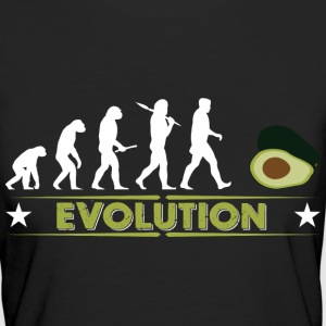 Avocado Evolution - gruen/weiss T-shirts - Ekologisk T-shirt dam