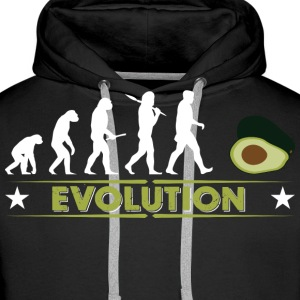 Avocado Evolution - gruen/weiss Gensere - Premium hettegenser for menn