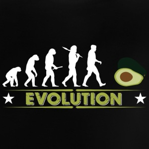Avocado Evolution - gruen/weiss Babytröjor - Baby-T-shirt