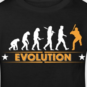 Baseball Evolution - orange/weiss Skjorter - Økologisk T-skjorte for barn