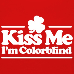 Kiss me I'm colorblind - St. Patricksday Irish Manga larga - Camiseta de manga larga premium mujer