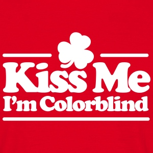 Kiss me I'm colorblind - St. Patricksday Irish T-skjorter - T-skjorte for menn