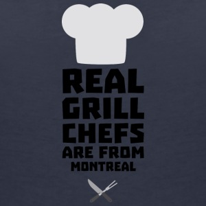 Real Grill Chefs are from Montreal S8ev6 T-Shirts - Women's V-Neck T-Shirt
