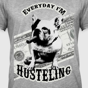 French Bulldog Hustlin' - Männer Vintage T-Shirt