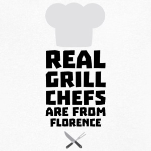Real Grill Chefs are from Florence Sa9z0 T-Shirts - Men's V-Neck T-Shirt