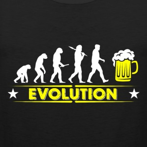 Beer evolution - yellow/white Sports wear - Men's Premium Tank Top