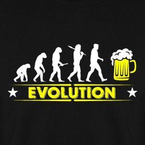 Evolution de la bière - jaune/blanc Sweat-shirts - Sweat-shirt Homme