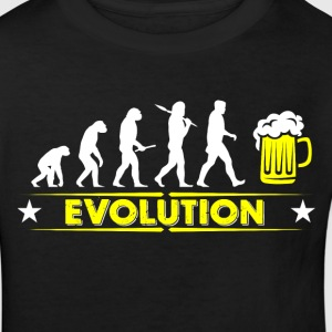 Öl evolution - gul/vit T-shirts - Ekologisk T-shirt barn