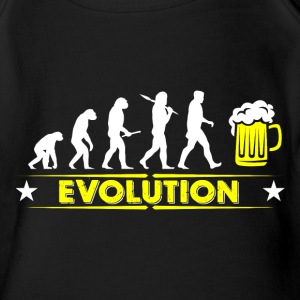 Beer evolution - yellow/white Baby Bodysuits - Organic Short-sleeved Baby Bodysuit