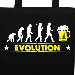 Beer evolution - yellow/white Bags & Backpacks - Tote Bag