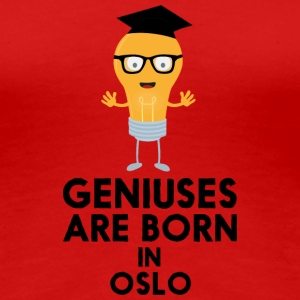 Geniuses are born in OSLO Sh6qa T-Shirts - Women's Premium T-Shirt