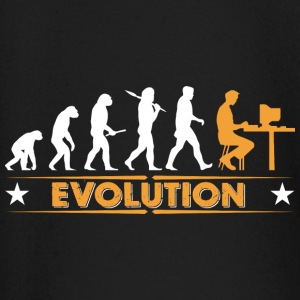 Computer Nerd Evolution - orange/weiss Baby Long Sleeve Shirts - Baby Long Sleeve T-Shirt