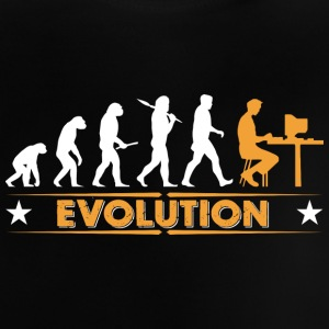 Computer Nerd Evolution - orange/weiss Baby Shirts  - Baby T-Shirt