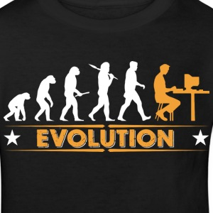 Computer Nerd Evolution - orange/weiss T-Shirts - Kinder Bio-T-Shirt
