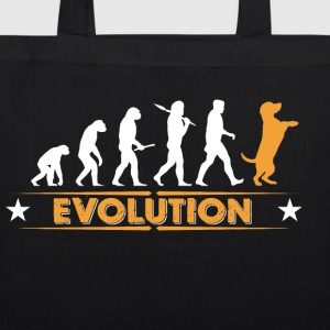 Dog evolution - orange/white Bags & Backpacks - EarthPositive Tote Bag