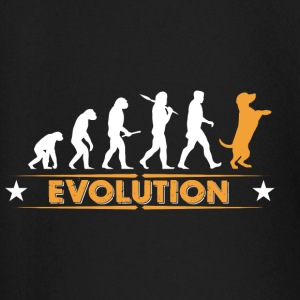 Dog evolution - orange/white Baby Long Sleeve Shirts - Baby Long Sleeve T-Shirt