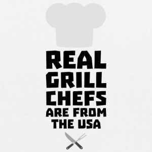 Real Grill Chefs are from The USA S1698 Bags & Backpacks - EarthPositive Tote Bag