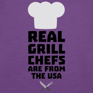 Real Grill Chefs are from The USA S1698 Tops - Women's Premium Tank Top