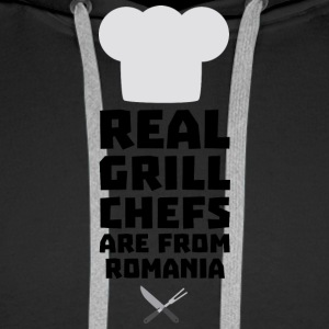 Real Grill Chefs are from Romania S2a9z Hoodies & Sweatshirts - Men's Premium Hoodie