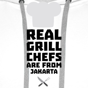 Real Grill Chefs are from Jakarta S307m Hoodies & Sweatshirts - Men's Premium Hoodie