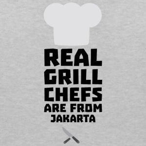 Real Grill Chefs are from Jakarta S307m T-Shirts - Women's V-Neck T-Shirt