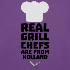 Real Grill Chefs are from Holland S3q61 Tops - Women's Premium Tank Top