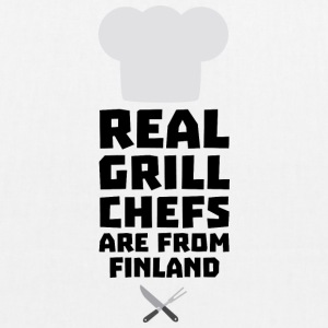 Real Grill Chefs are from Finland Skwx2 Bags & Backpacks - EarthPositive Tote Bag