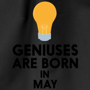 Geniuses are born in MAY Sme06 Bags & Backpacks - Drawstring Bag