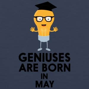 Geniuses are born in MAY Sf709 Sports wear - Men's Premium Tank Top